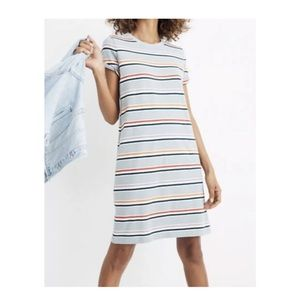 Madewell striped tee alchester dress S